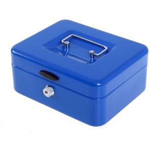 Ryman Button Release Cash Box H90xw200xd170mm, Blue, Blue