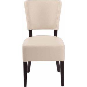 Tabilo Sena Faux Leather Dining Chair, Cream 1075201698, Cream
