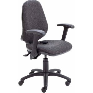 Tc Office Calypso Twin Lever Ergonomic Chair With Lumbar Pump And Folding Arms, Charcoal 1096070328, Charcoal