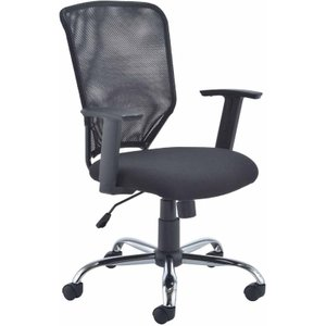 Tc Office Start Mesh Operator Chair With Height Adjustable Arms, Black 1096070532, Black