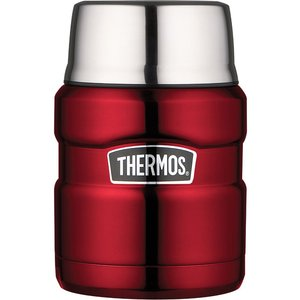 Thermos Stainless King Food Flask 470ml, Red, Red