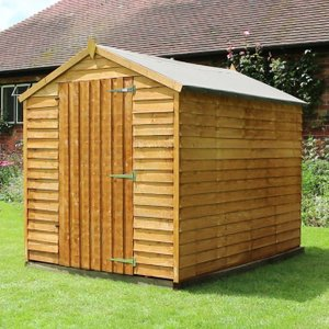 8 X 6overlap Single Door Apex Garden Shed Without Windows Si 001 001 0003 Sheds & Garden Furniture