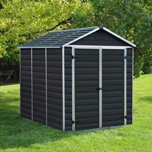 Palram 8x6 Midnight Grey Skylight Plastic Shed Esdxl30pls022 Sheds & Garden Furniture