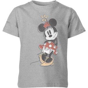 Disney Minnie Offset Kids' T-shirt - Grey - 7-8 Years - Grey Yt 2272 888888 Ym Childrens Clothing, Grey