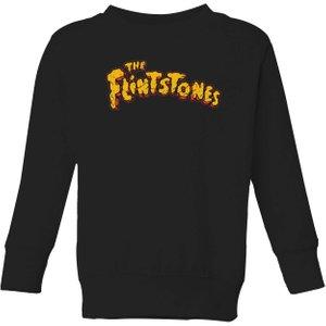 Hanna Barbera The Flintstones Logo Kids' Sweatshirt - Black - 9-10 Years - Black Ys 10478 000000 Yl Childrens Clothing, Black