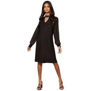 Anastasia  Black Lined Sequin Dress  Women's Dress In Black. Sizes Available:uk 12,uk 14,u, Black