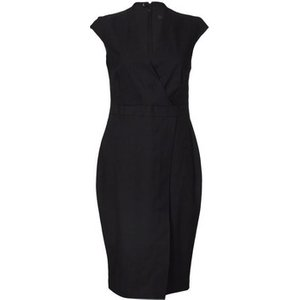 Anastasia  -black Sleeveles Wrap Dress  Women's Dress In Black. Sizes Available:uk 10,uk 1, Black