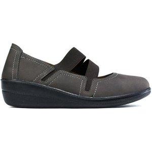 Confort  Women's Low Wedge Elastic Strap Comfort Shoe  Women's Shoes (pumps / Ballerinas) , Brown