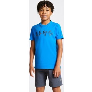 Dare 2b  Go Beyond Graphic T-shirt Petrol Blue Blue  Girls's  In Blue. Sizes Available:11 , Blue