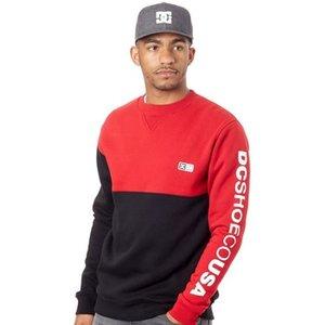Dc Shoes  Black Clewiston Crew Sweater  Men's Sweatshirt In Black. Sizes Available:uk M, Black
