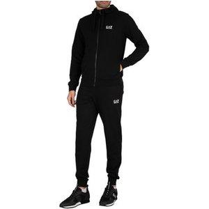 Emporio Armani Ea7  Zip Hoodie Jersey Tracksuit  Men's  In Black. Sizes Available:uk Xs,uk, Black