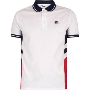 Fila  Opal Cut And Sew Polo Shirt  Men's Polo Shirt In White. Sizes Available:uk S,uk M,uk, White