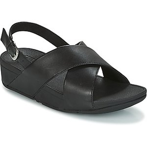 Fitflop  Lulu Cross Back-strap Sandals - Leather  Women's Sandals In Black. Sizes Availabl, Black