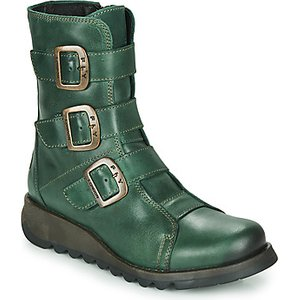 Fly London  Scop  Women's Mid Boots In Green. Sizes Available:3,4,8, Green