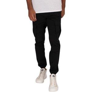 Jack   Jones  Gordon Triple Cargo  Men's Trousers In Black. Sizes Available:uk M,uk L,uk X, Black