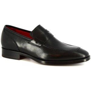 Leonardo Shoes  8227i18 Vitello Nero  Men's Loafers / Casual Shoes In Black. Sizes Availab, Black
