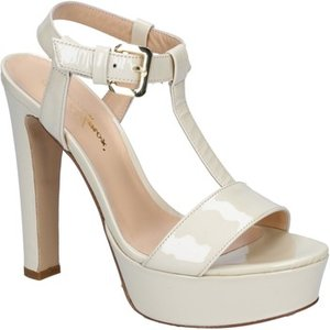 Mi Amor  Sandals Patent Leather By163  Women's Sandals In Beige. Sizes Available:5,6, Beige