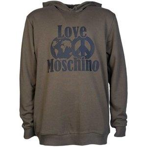 Moschino  M649210m3875_q19khaki  Men's Sweatshirt In Green. Sizes Available:uk M,uk L,uk X, Green