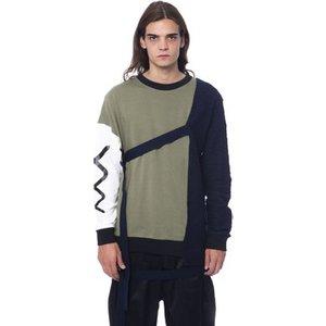Nicolo Tonetto  -  Men's Sweatshirt In Multicolour. Sizes Available:eu L, multicolour