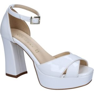Olga Rubini  Sandals Patent Leather By314  Women's Sandals In White. Sizes Available:6, White