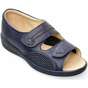 Padders  Peaceful Womens Wide Fit Sandals  Women's Sandals In Blue. Sizes Available:3,3.5,, Blue