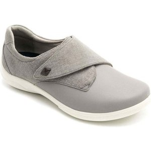 Padders  Viola Womens Riptape Fastening Shoes  Women's Shoes (trainers) In Grey. Sizes Ava, Grey