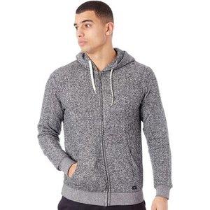 Quiksilver  Tarmac Shd Marl Zip Hoody  Men's Sweatshirt In Grey. Sizes Available:uk M, Grey