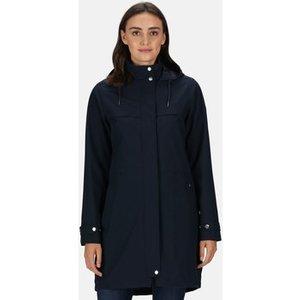 Regatta  Abiela Waterproof Shell Jacket Black Blue  Women's Coat In Blue. Sizes Available:, Blue