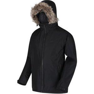 Regatta  Haig Waterproof Insulated Fur Trimmed Hooded Jacket Black  Men's Parka In Black. , Black
