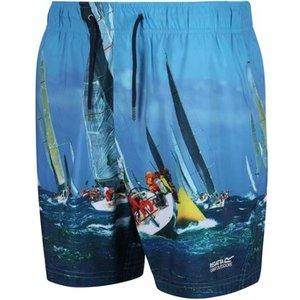 Regatta  Mawson Ii Swim Shorts Oxford Blue Multi  Men's  In Multicolour. Sizes Available:u, Multicolour