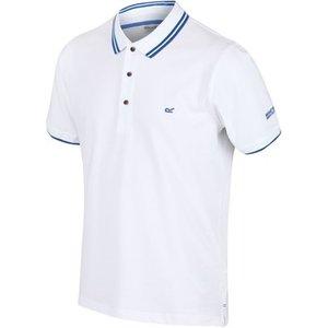 Regatta  Talcott Ii Tshirt Oxford Blue White  Men's Polo Shirt In White. Sizes Available:u, White