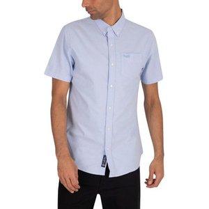 Superdry  Classic University Oxford Shortsleeved Shirt  Men's Short Sleeved Shirt In Blue., Blue