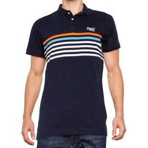 Superdry  Weekender Jersey Polo Shirt  Men's Polo Shirt In Blue. Sizes Available:uk S,uk M, Blue