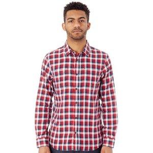 Vans  Chili Pepper-baby Blue Alameda Ii Long Sleeved Shirt  Men's Long Sleeved Shirt In Re, Red