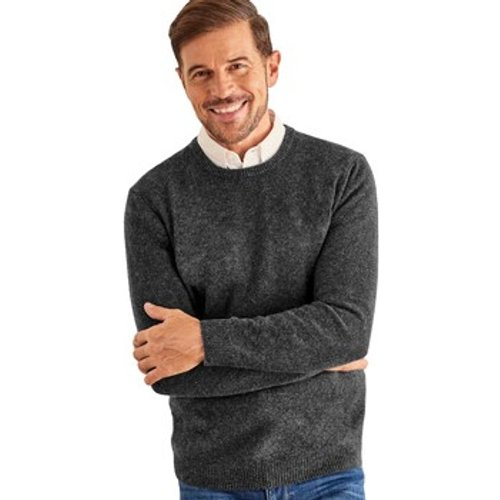Woolovers  Lambswool Crew Neck Jumper  Men's Sweater In Grey. Sizes Available:uk S,uk M,uk