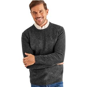 Woolovers  Lambswool Crew Neck Jumper  Men's Sweater In Grey. Sizes Available:uk S,uk M,uk, Grey