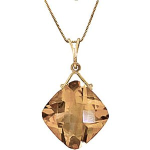 Qp Jewellers Citrine Cushion Pendant Necklace 8.75 Ct In 9ct Gold 3864y Womens Jewellery