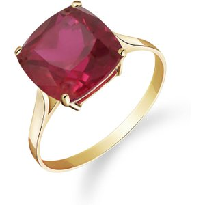 Qp Jewellers Cushion Cut Ruby Ring 4.7 Ct In 18ct Gold 4178y.18 Womens Jewellery