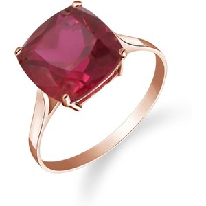 Qp Jewellers Cushion Cut Ruby Ring 4.7 Ct In 9ct Rose Gold 4178r Womens Jewellery