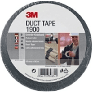 3 M 3m Duct Tape 1900 50mm X 50m - Black 190050b Office Supplies