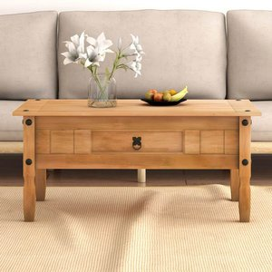 Solid Pine Wood Coffee Table Uk Only Frttpidc0100cj00 Furniture
