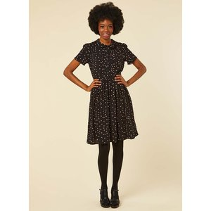 Joanie Elsie Ecovero™ Ladybird Print Tea Dress - Vintage Style 11219 Womens Clothing