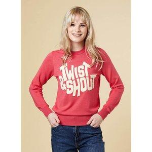 Joanie Luella Twist & Shout Slogan Jumper - Vintage Style 11393 Womens Clothing