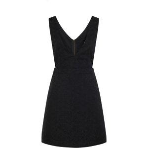 Joanie Prudence Jacquard Pinafore Dress - Black - Vintage Style 9118 Womens Clothing
