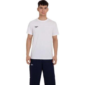 Speedo Unisex Team Crew Neck T-shirt White 8104330003 Xl, White