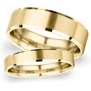 Goldsmiths 2.5mm D Shape Heavy Polished Chamfered Edges With Matt Ce ... Wdm2.5 Cut 38 Womens Jewellery