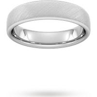 Goldsmiths 5mm D Shape Heavy Diagonal Matt Finish Wedding Ring In Platinum Wdm5 Cut 69 Womens Jewellery