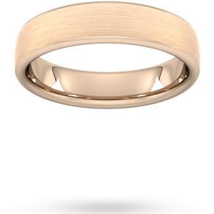 Goldsmiths 5mm D Shape Standard Matt Finished Wedding Ring In 9 Carat Rose Gold Wdl5 Cut 24 Womens Jewellery