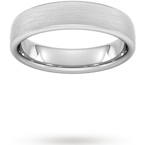 Goldsmiths 5mm D Shape Standard Matt Finished Wedding Ring In 9 Carat White Gold Wdl5 Cut 24 Womens Jewellery