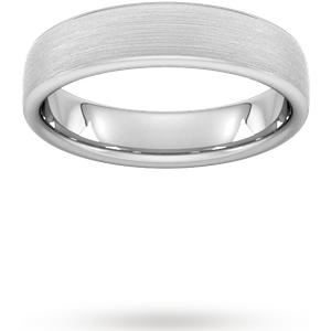 Goldsmiths 5mm Flat Court Heavy Matt Finished Wedding Ring In 9 Cara ... M08400248 Womens Jewellery